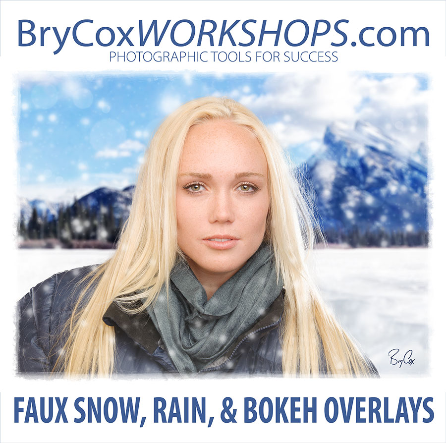 Faux Snow, Rain, & Bokeh Photoshop Overlays